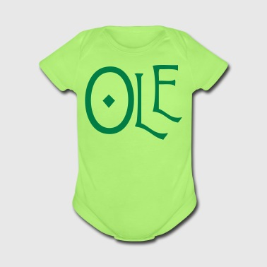 spanish word ole - Short Sleeve Baby Bodysuit