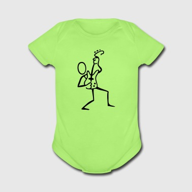 Guitar Player - Short Sleeve Baby Bodysuit