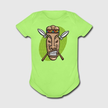 Surly Tiki Mask - Organic Short Sleeve Baby Bodysuit