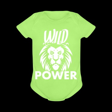 Lion Wild Power - Short Sleeve Baby Bodysuit