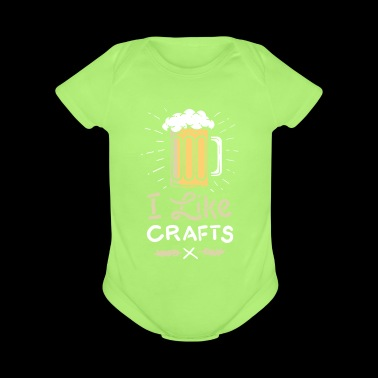 I like Beer Craft and Beer Love Gift - Short Sleeve Baby Bodysuit