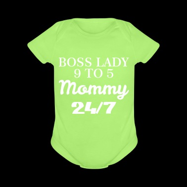 Boss Lady Mommy Womens Mothers Day - Short Sleeve Baby Bodysuit