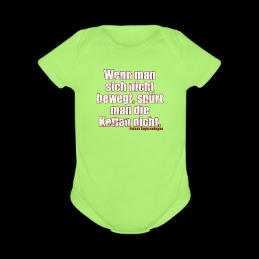 Chains Libertarian Quote Rahim Taghizadegan - Short Sleeve Baby Bodysuit