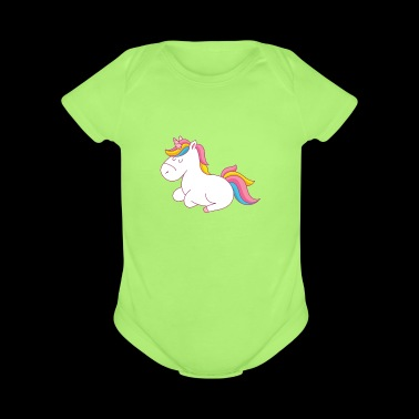 Unicorn 03 - Short Sleeve Baby Bodysuit