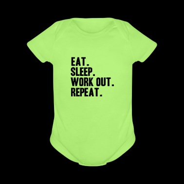 training fitness gym muscles shirt gift idea - Short Sleeve Baby Bodysuit