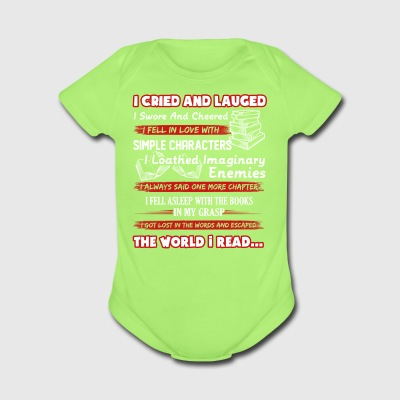 I Read Book Shirt - Short Sleeve Baby Bodysuit