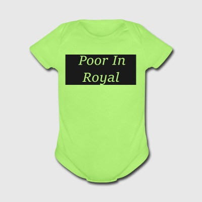 Poor In Royal Shirts - Short Sleeve Baby Bodysuit
