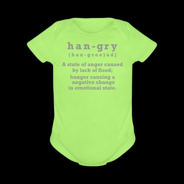 Hangry - Short Sleeve Baby Bodysuit