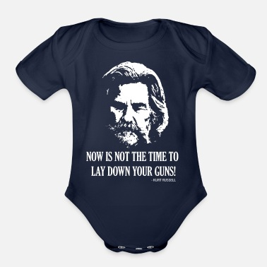 Straight Shooter NOW IS NOT THE TIME - HARD BW - Organic Short-Sleeved Baby Bodysuit