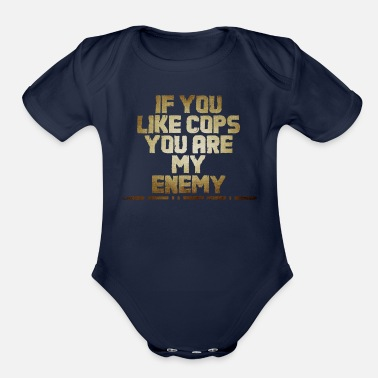 Police ACAB gold - Organic Short-Sleeved Baby Bodysuit