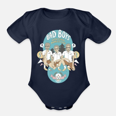 Bad Boy Bad Boys - Organic Short Sleeve Baby Bodysuit