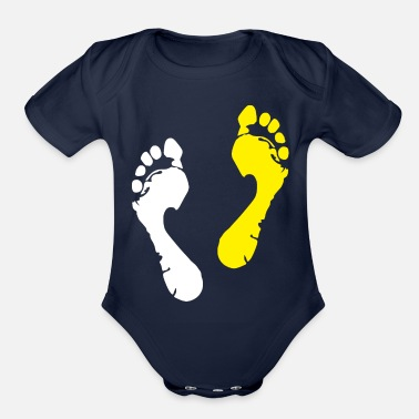 Lapsi foot trace - Organic Short-Sleeved Baby Bodysuit