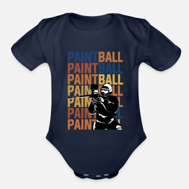 Paintball PAINTBALL PAINTBALL PAINTBALL - Organic Short-Sleeved Baby Bodysuit
