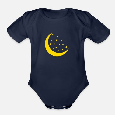 Moon Moon star - Organic Short-Sleeved Baby Bodysuit
