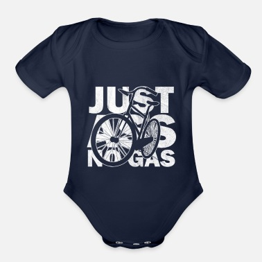 Ass Gas Just ass no gas - Organic Short-Sleeved Baby Bodysuit