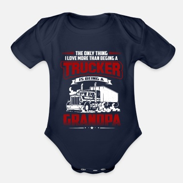 TRUCKER GRANDPA TSHIRT - Organic Short-Sleeved Baby Bodysuit