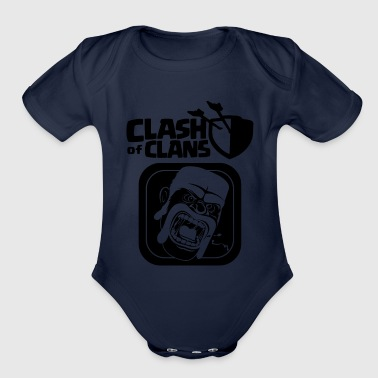 Barbarian Clash of Clans - Organic Short Sleeve Baby Bodysuit