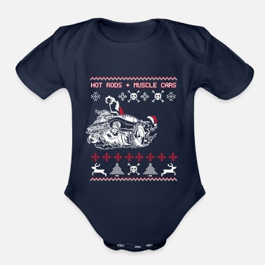 Hot Rod Car Hot rods muscle cars - Organic Short-Sleeved Baby Bodysuit