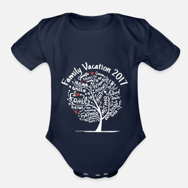 Family Vacation family vacation 2017 - Organic Short-Sleeved Baby Bodysuit