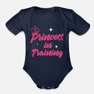 Training Princess In Training - Organic Short-Sleeved Baby Bodysuit