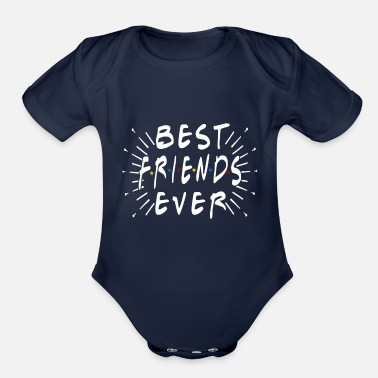 BEST FRIENDS EVER - Organic Short-Sleeved Baby Bodysuit