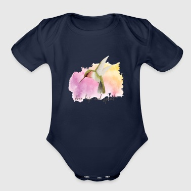 Hum Humming Bird - Organic Short Sleeve Baby Bodysuit