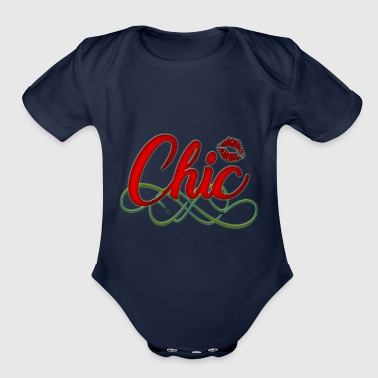 Chic - Organic Short Sleeve Baby Bodysuit