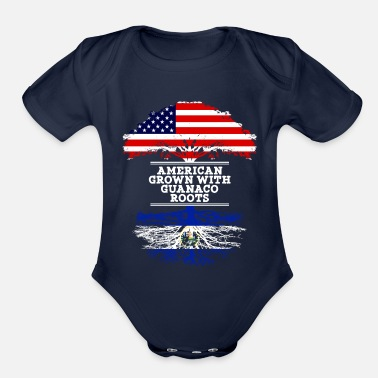 El Salvador American Grown With Guanaco Roots - Organic Short Sleeve Baby Bodysuit