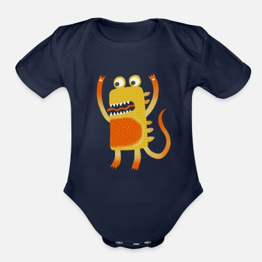 Stanley Monster Stanley - Organic Short Sleeve Baby Bodysuit