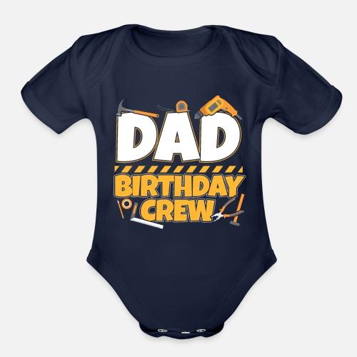 Organic Short Sleeved Baby BodysuitFather Child Birthday Dad Crew Gift