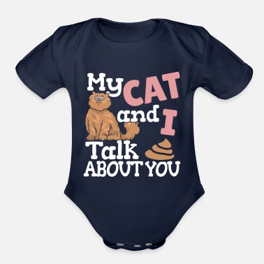 Nose cat cat love tomcat cat friend meow gift - Organic Short Sleeve Baby Bodysuit