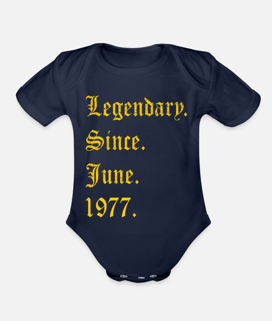 Queens Are Born In April Baby One Pieces - T-Shirt Legendary Since 1977-png - Organic Short-Sleeved Baby Bodysuit dark navy