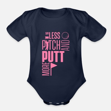 Pitch And Putt Pitch and Putt Pitch and Putt Pitch and Putt - Organic Short-Sleeved Baby Bodysuit