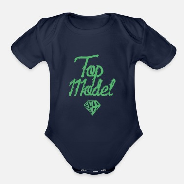 Model Modeling Top Model Model Catwalk Fashion Model - Organic Short-Sleeved Baby Bodysuit