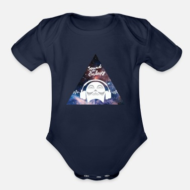 Music Galaxy Universe Space Sound of Galaxy Music Gift - Organic Short-Sleeved Baby Bodysuit