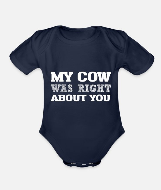 COW Loversxmas Baby One Pieces - My COW Right ABout You i g - Organic Short-Sleeved Baby Bodysuit dark navy