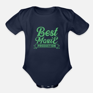 Movie Producer Movie Producer Movie Producer Movie Producer - Organic Short-Sleeved Baby Bodysuit