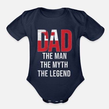 Tonga Tonga Dad Fathers Day - Organic Short-Sleeved Baby Bodysuit