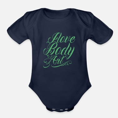 Tatoo Tatoos Art - Organic Short-Sleeved Baby Bodysuit
