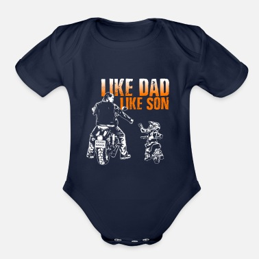 Son like dad like son - Organic Short-Sleeved Baby Bodysuit