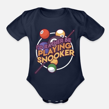 Stick Billard Billards Games Pool Gift Idea - Organic Short-Sleeved Baby Bodysuit