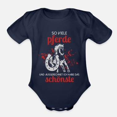 Riding Stable horse horse lover stable stable riding stable ridi - Organic Short-Sleeved Baby Bodysuit
