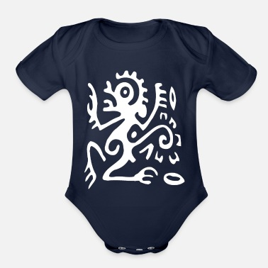 Tribal tribal - Organic Short Sleeve Baby Bodysuit