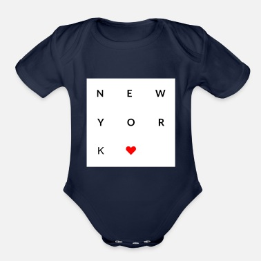 New I love New York City - Organic Short-Sleeved Baby Bodysuit