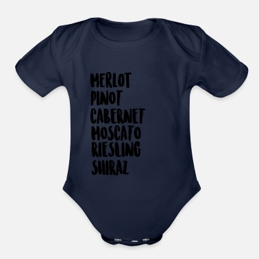 Wine Wine On Wine - Organic Short Sleeve Baby Bodysuit
