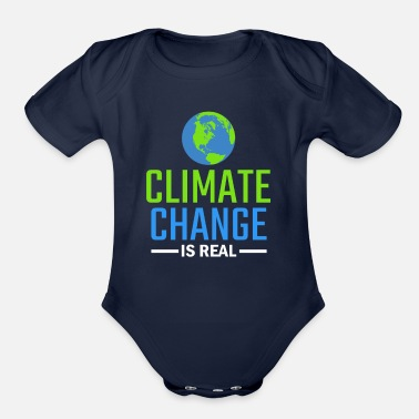 Change Climate Change Gift - Organic Short-Sleeved Baby Bodysuit
