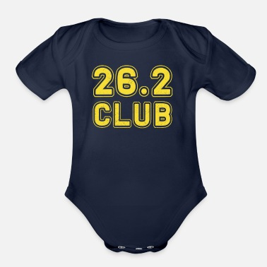 Marathon 26.2 Club Boston Running Marathon - Organic Short-Sleeved Baby Bodysuit