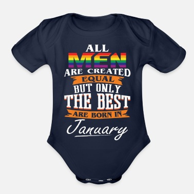 The Best Are Born In January - Organic Short-Sleeved Baby Bodysuit