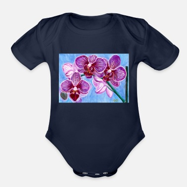 Orchid of Hope - Organic Short-Sleeved Baby Bodysuit