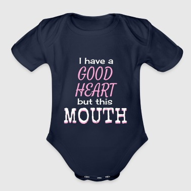 this mouth - Organic Short Sleeve Baby Bodysuit